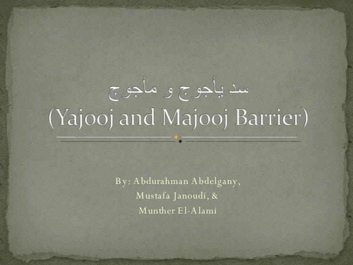 By: Abdurahman Abdelgany, Mustafa Janoudi, & Munther El-Alami