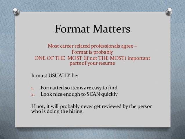 Career Center Resume 101 Workshop