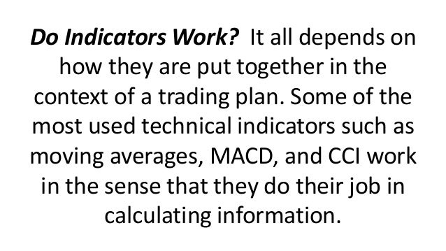 Trading indicators dont work
