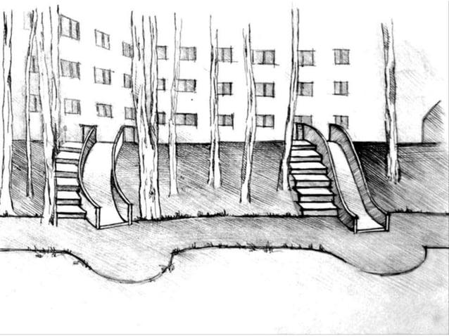 В основу рисунка аллеи легли элементы русских орнаментов
