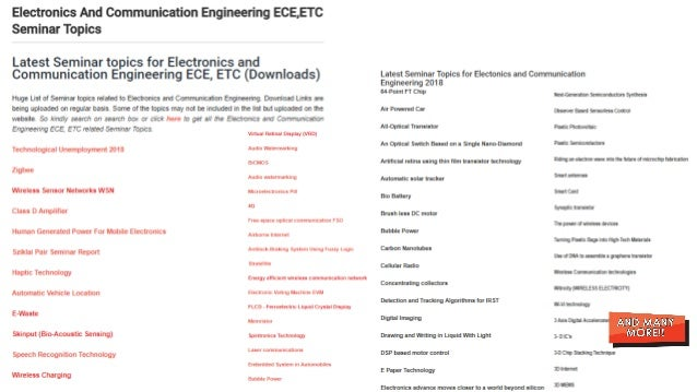 Seminar Topics For Mechanical Engineering Pdf