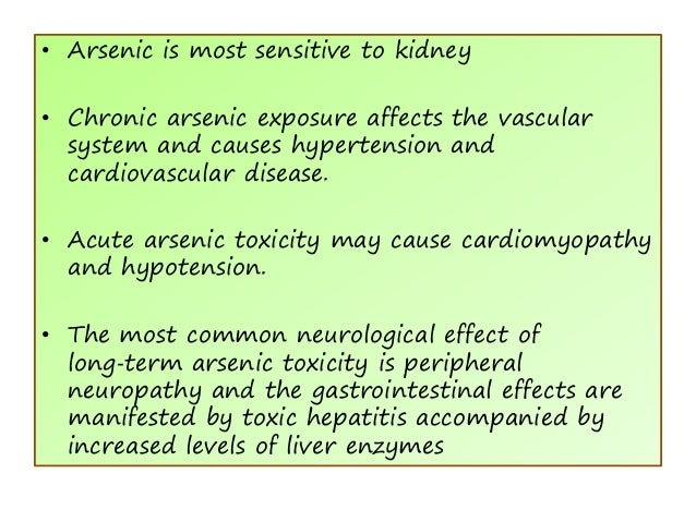 Acute and chronic arsenic toxicity