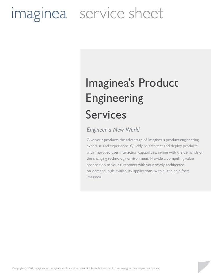 imaginea service sheet                                                                 Imaginea's Product                 ...