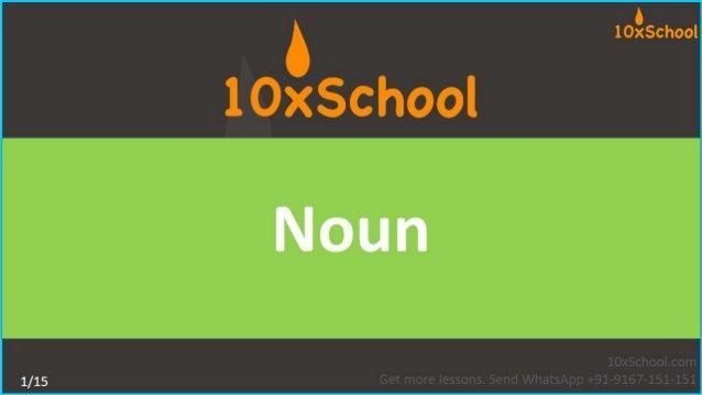 Grade 4: Noun
