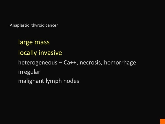 Thyroid Cancer Ultrasound Findings
