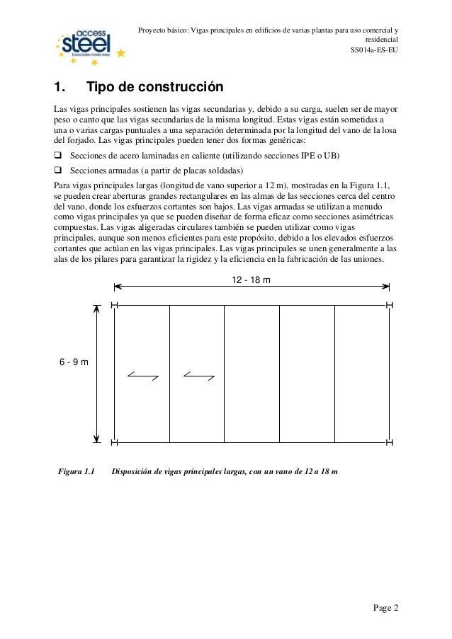 Proyecto básico: Vigas principales en edificios de varias plantas para uso comercial y residencial SS014a-ES-EU 1. Tipo de...