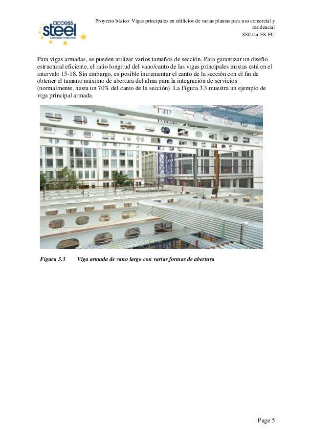 Proyecto básico: Vigas principales en edificios de varias plantas para uso comercial y residencial SS014a-ES-EU Para vigas...