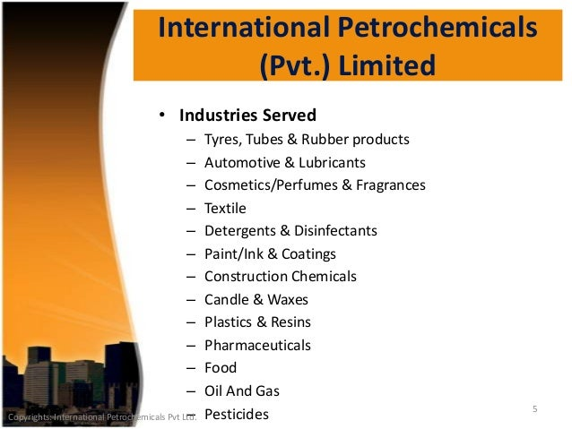 An introduction to International Petrochemicals Pvt Ltd
