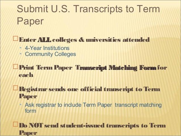 Provides custom term paper writing