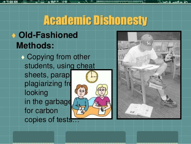 academic integrity using technology to cheat Technology for instructors academic integrity  academic misconduct could result in disciplinary action that may include,  why do students cheat | using.