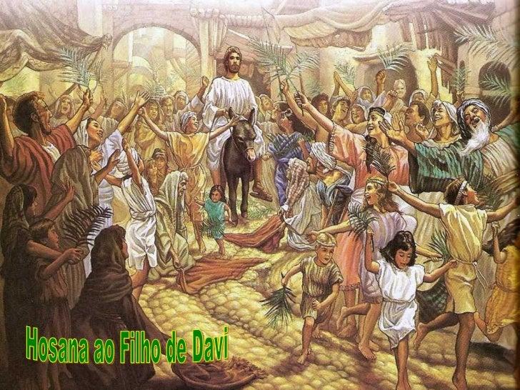 Com o Domingo de Ramos começamos a Semana Santa. Somos       convidados a contemplar o grande amor de Deus,que desceu ao n...