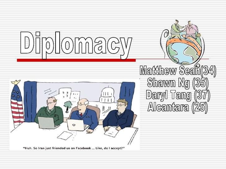 Diplomacy Matthew Seah(34) Shawn Ng (35) Daryl Tang (37) Alcantara (25)