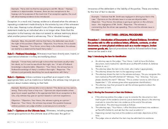 Imperialism Debates Project Manual