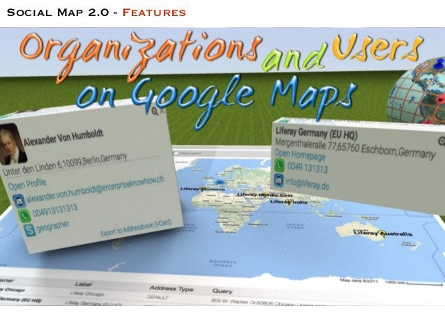 Social Map 2.0 - Features