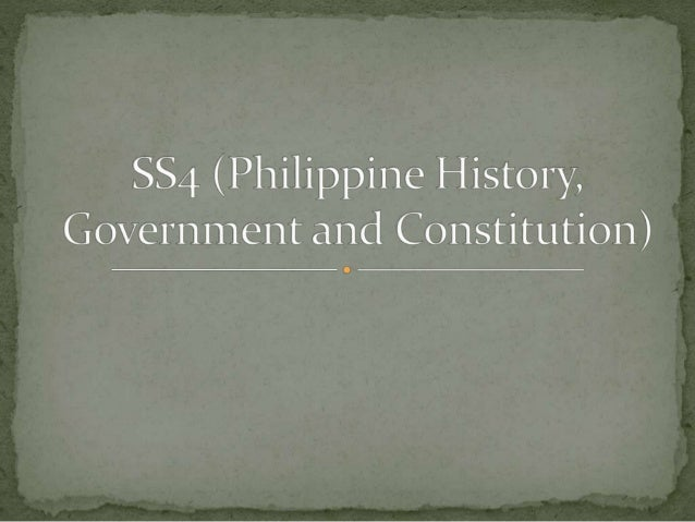 philippine history politics governance and constitution Pol 101 politics, governance and the philippine constitution none the course is two fold first it aims to introduce to the students the key concepts, issues, theory and methodology of political science.
