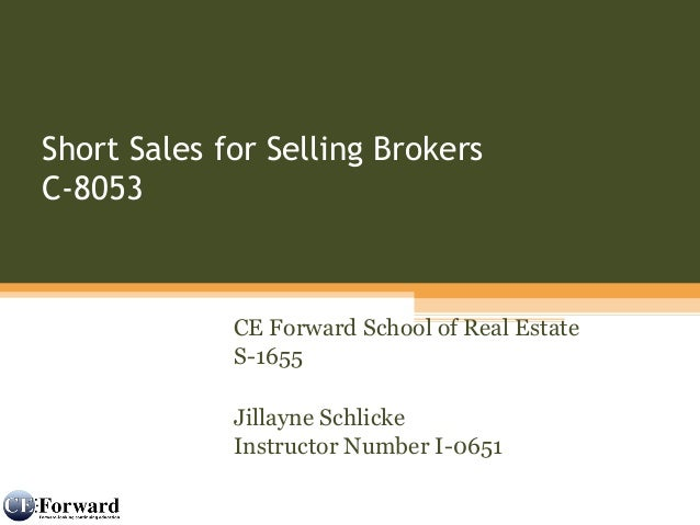 Short Sales For Realtors Representing Buyers