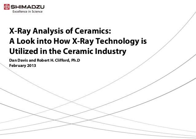 X-Ray Analysis of Ceramics