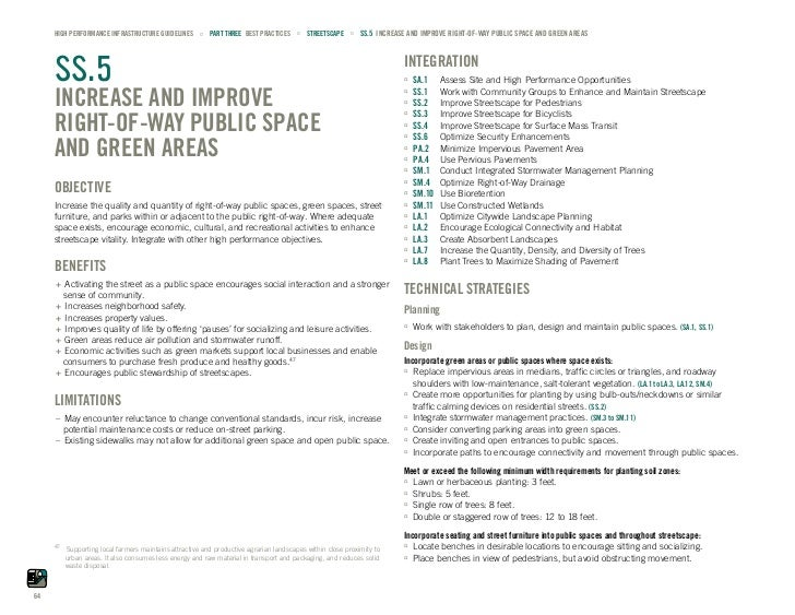 HIGH PERFORMANCE INFRASTRUCTURE GUIDELINES ˙ PART THREE BEST PRACTICES ˙ STREETSCAPE ˙ SS.5 INCREASE AND IMPROVE RIGHT-OF-...