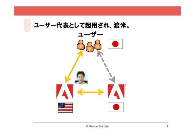 ユーザー代表として起用され、渡米。        ユーザー                    3