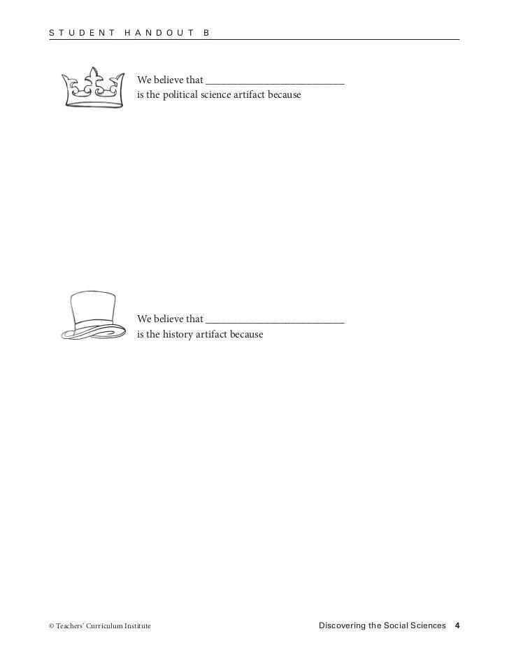 Ssa4 1 artifact – Teachers Curriculum Institute Worksheets