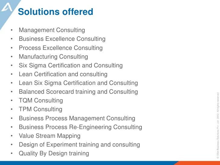 Business Management Consulting : Ssa business solutions excellence management