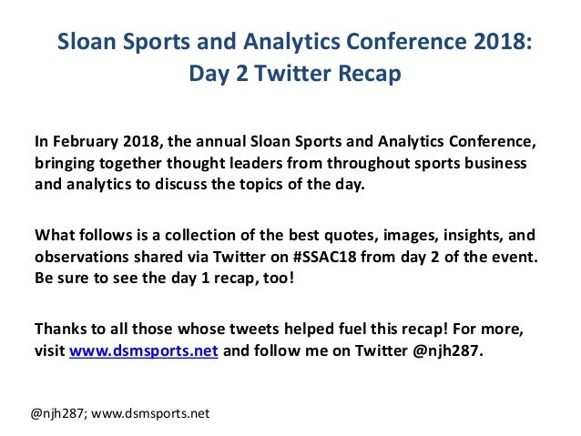 Sloan Sports and Analytics Conference 2018: Day 2 Twitter Recap