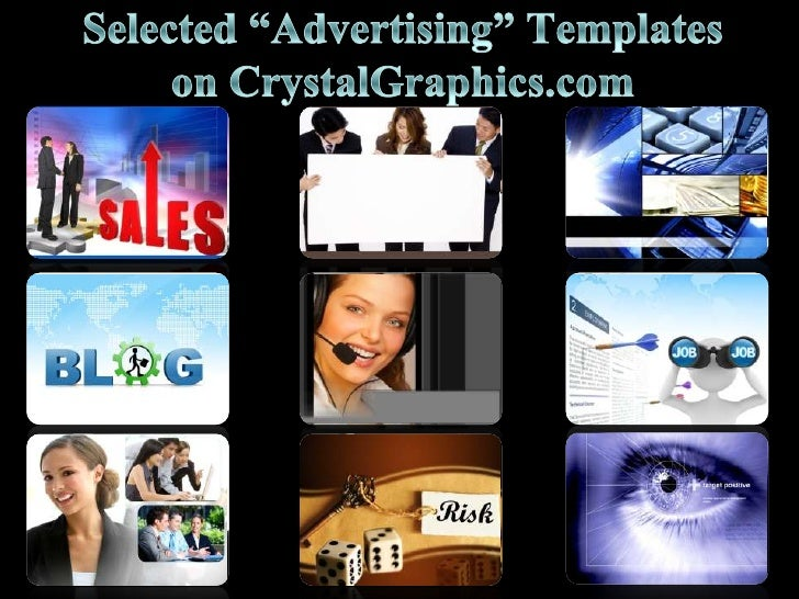 """Selected """"Advertising"""" Templates on CrystalGraphics.com<br />"""