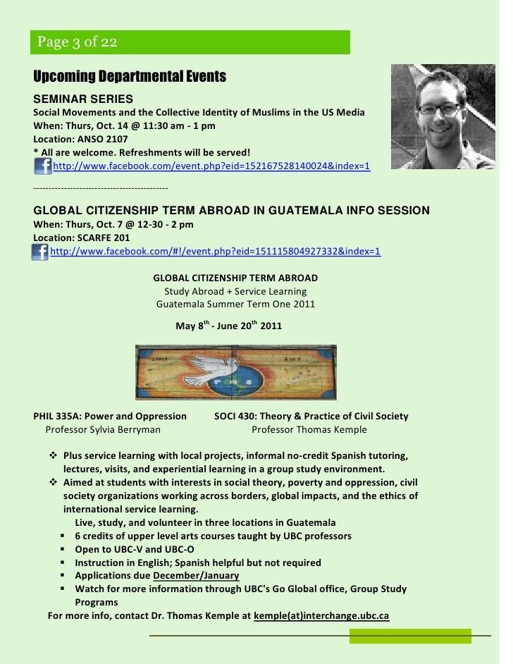 SSA E-newsletter (Edition 1 - Oct. 6, '10) Slide 3