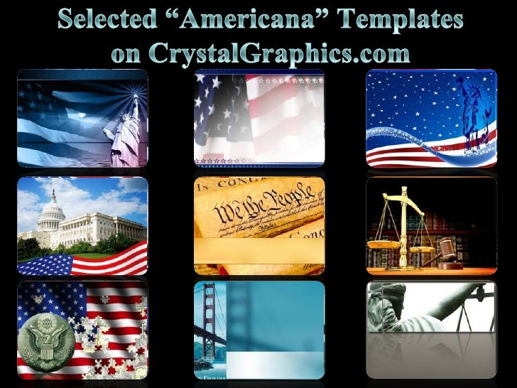 """Selected """"Americana"""" Templates on CrystalGraphics.com<br />"""
