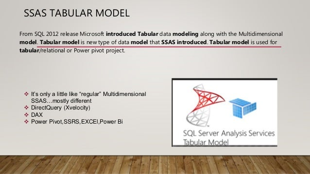 SSAS Tabular model importance and uses