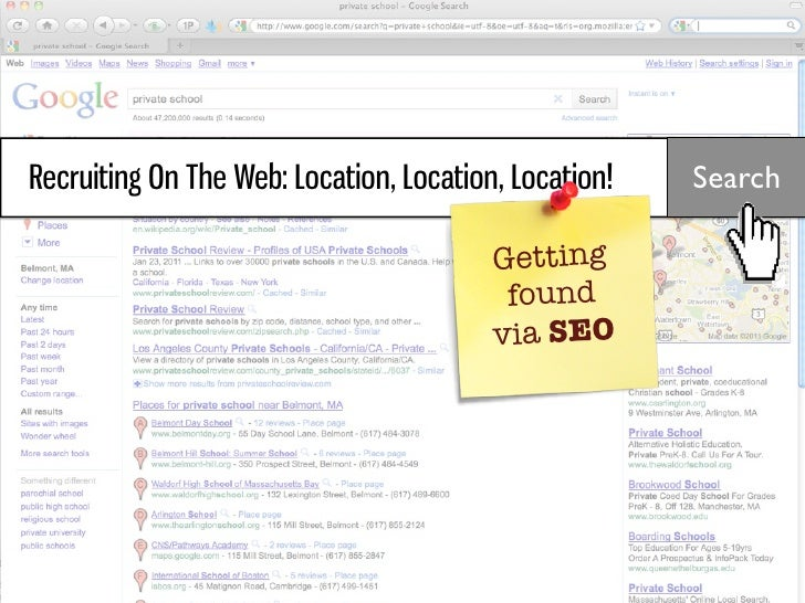 Recruiting On The Web: Location, Location, Location!   Search                                         Getting             ...