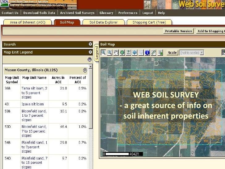 Basic soil improvement for Soil web survey