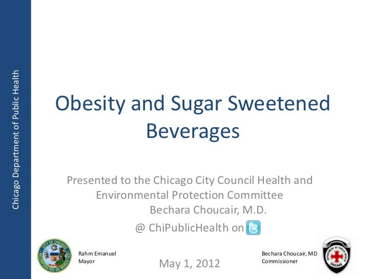 Chicago Department of Public Health                                      Obesity and Sugar Sweetened                      ...