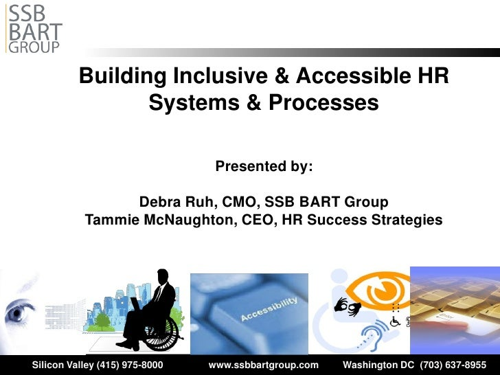 Building Inclusive & Accessible HR                  Systems & Processes                                 Presented by:     ...