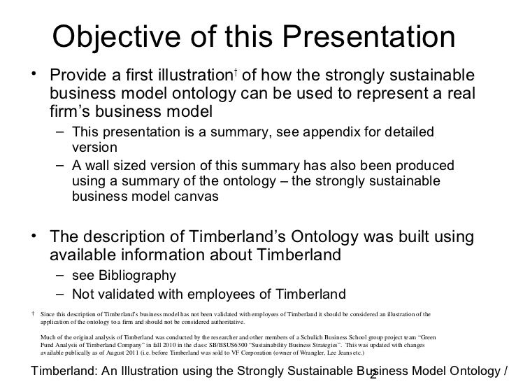 Strongly Sustainable Business Model Ontology Example