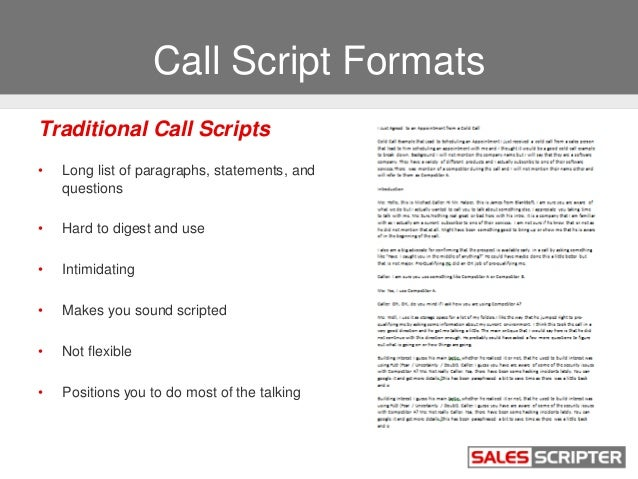 How To Build A Cold Call Script That Works - Cold call template