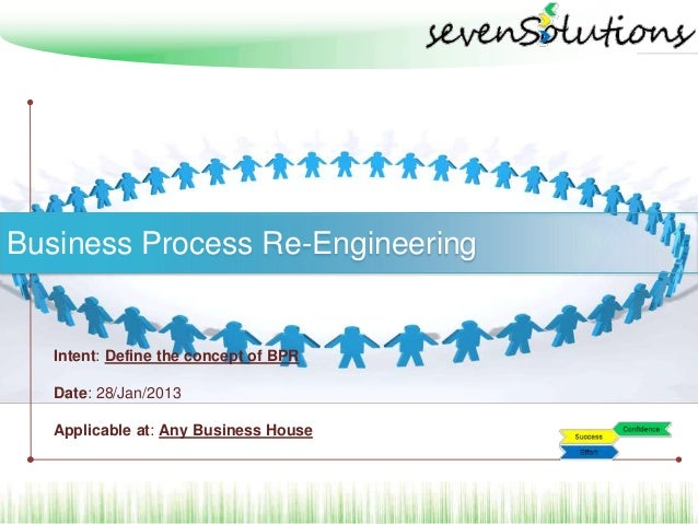 Business Process Re-Engineering   Intent: Define the concept of BPR   Date: 28/Jan/2013   Applicable at: Any Business House