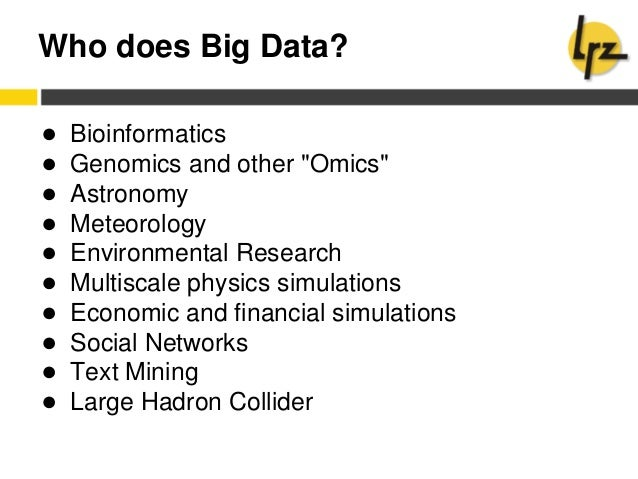 Lrz kurs: big data analysis