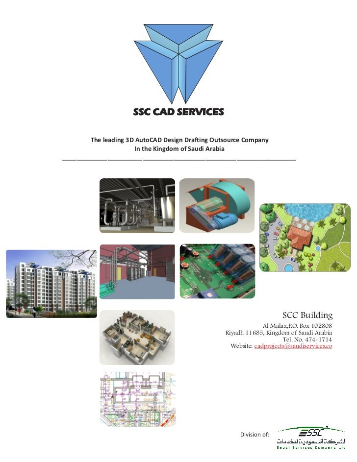 SSC CAD SERVICES        The leading 3D AutoCAD Design Drafting Outsource Company                       In the Kingdom of S...