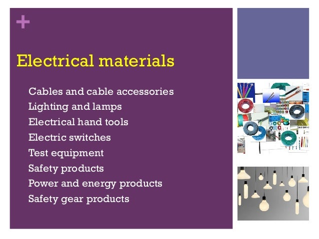 Products 5 Electrical Materials