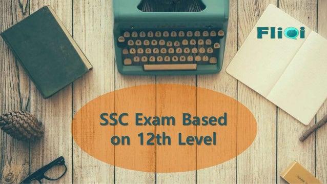 SSC Exam Based on 12th Level