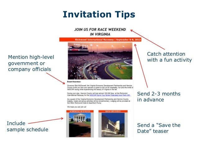 When site selectors come to visit 8 tips for a memorable fam tour invitation stopboris Gallery