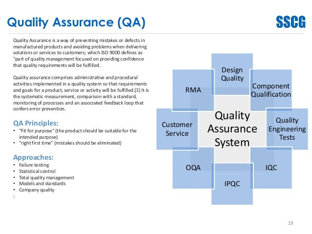 quality assurance training topics pdf