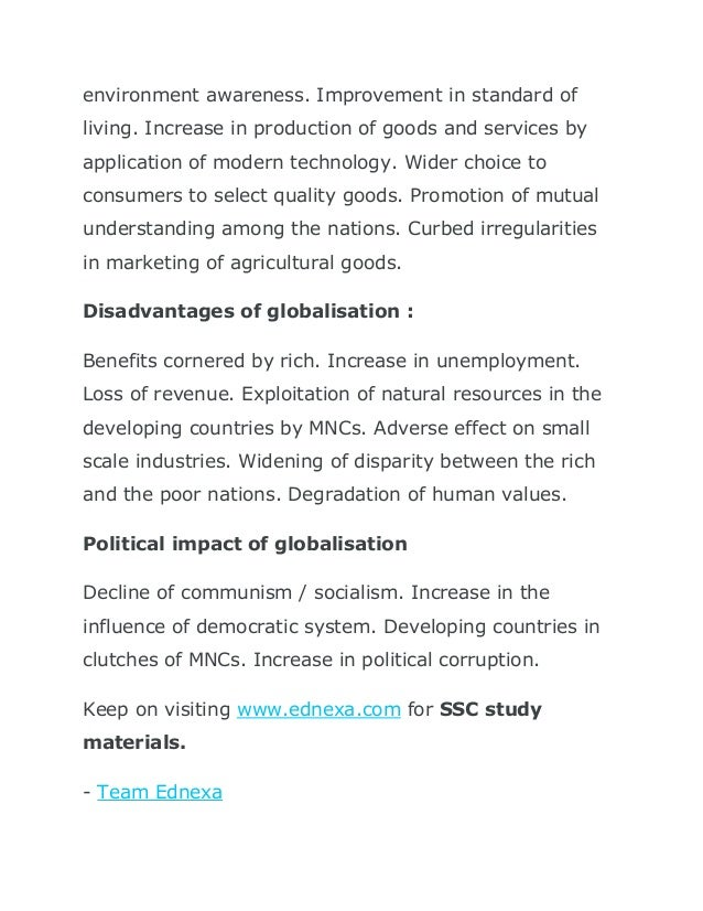 benefits and disadvantages of mncs to developing countries Mncs bring jobs (but also  advocates blaming mncs for not adhering to the same standards in developing countries as in  multinational corporations: pro or con.