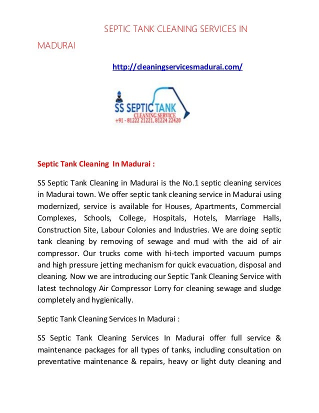 SEPTIC TANK CLEANING SERVICES IN MADURAI http://cleaningservicesmadurai.com/ Septic Tank Cleaning In Madurai : SS Septic T...