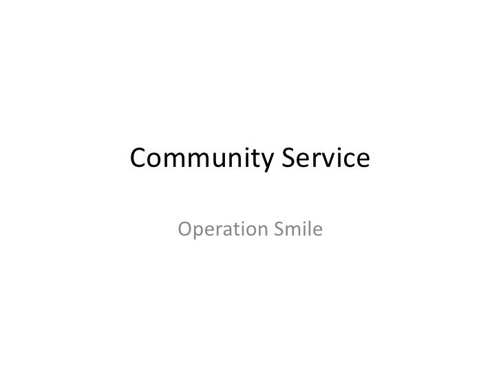Community Service<br />Operation Smile<br />