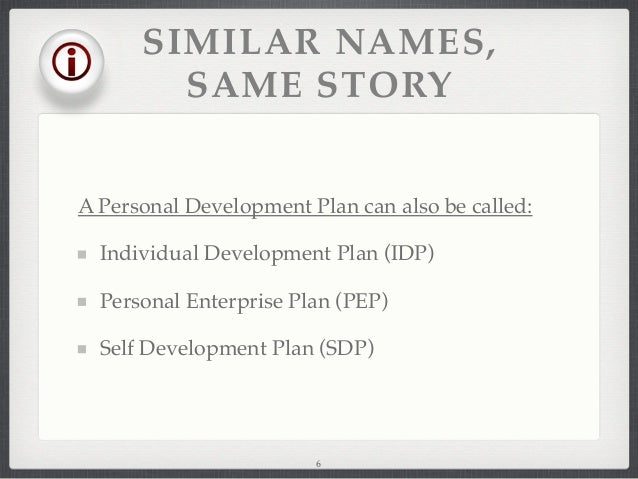 how to create a personal development plan