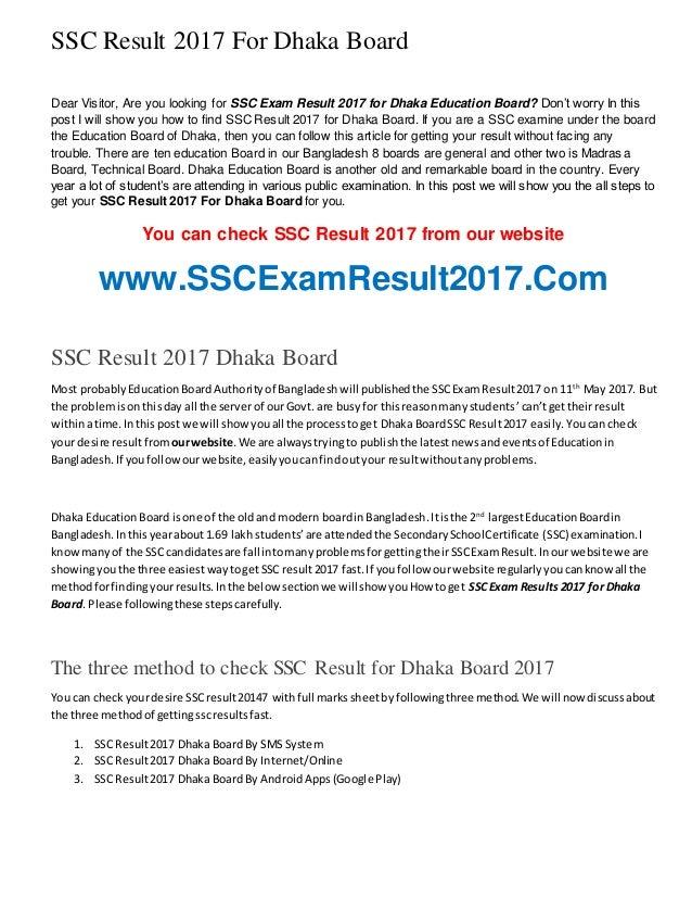 SSC Result 2017 BD All Education Board