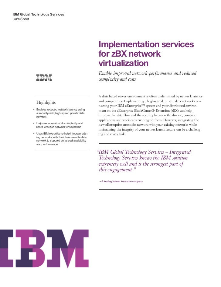 IBM Global Technology ServicesData Sheet                                                                    Implementation...