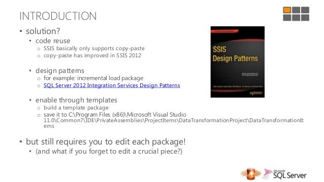 Sql server days 2013 create etl solutions faster with for Ssis design document template